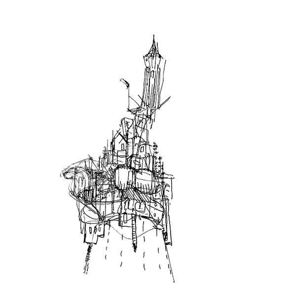 UpNano_Castle_on_a_Pencil_Tip_Sketch