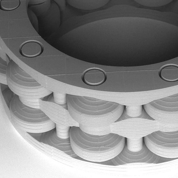 REM photo: close few of the roller bearing