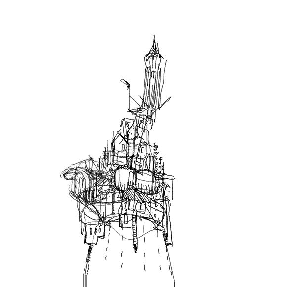 UpNano_Castle_on_a_Pencil_Tip_Sketch